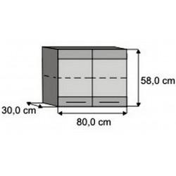 Modulo 80 superior vitrina Paola
