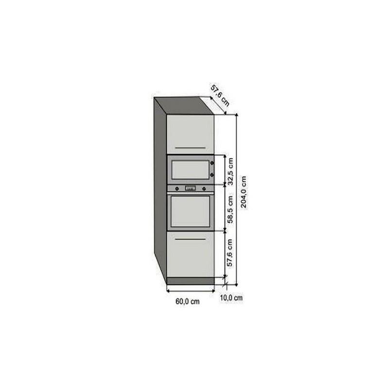 Modulo 60 alto columna megatienda24 for Mueble horno empotrado