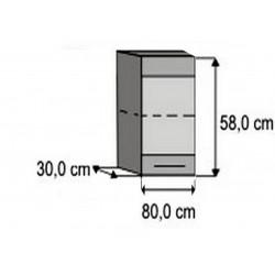 Modulo 40 superior vitrina Paola