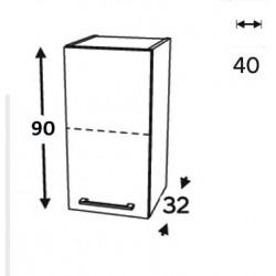 Modulo superior vitrina